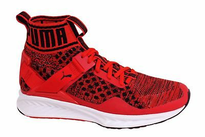 c78e663c1a9 PUMA IGNITE EVOKNIT Lace Up Red Mens Mid Shoes Trainers 189697 02 ...