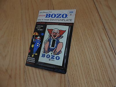 Bozo the Clown Switchplate Light Switch Cover NOS MIP Vintage (e158)