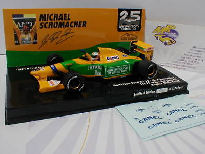 Minichamps 517924318 - Benetton FORD B192 Michael Schumacher Spa 1992 Win 1:43