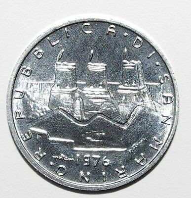 1976 5 Lire San Marino High Grade and High Value Nice Coin