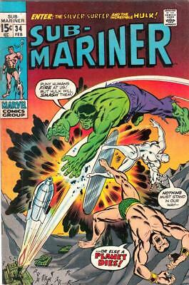 Sub-Mariner # 34 strict VG/FN 1st   appearance The Defenders