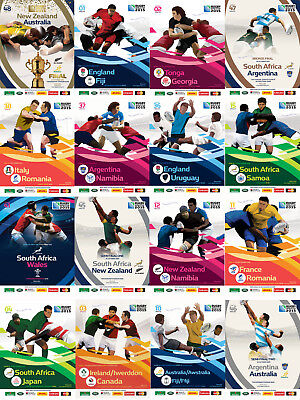 RUGBY WORLD CUP 2015 PROGRAMMES MATCHES 1 to 24 RWC PROGRAMMES