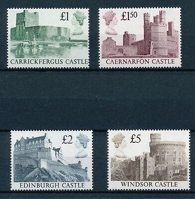 [H3403] Great Britain : Castles - Good Set of Very Fine MNH Stamps