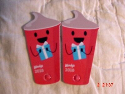 2  Wendy's 2018 Key Tag Keychain Free Jr Frosty Every Visit -  Any state