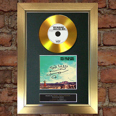 GOLD DISC NOEL GALLAGHER Dream On Album Signed Autograph Mounted Repro #162