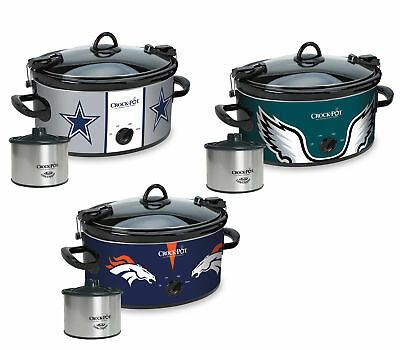 Crock Pot NFL 6 Quart Cook and Carry Slow Cooker with 16oz Little Dipper ed42bceb0