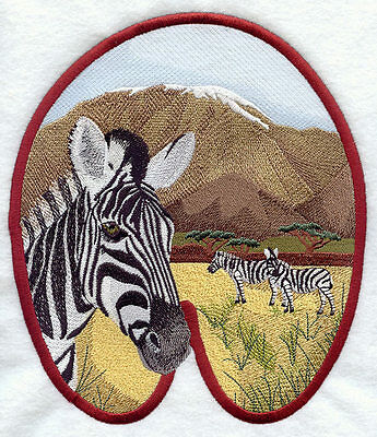 Embroidered Long-Sleeved T-Shirt - Zebra Track M1613 Sizes S - XXL