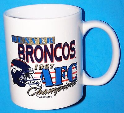 Denver Broncos 1997 Afc Champions, Super Bowl Xxxii Cup - Graphics On Both Sides