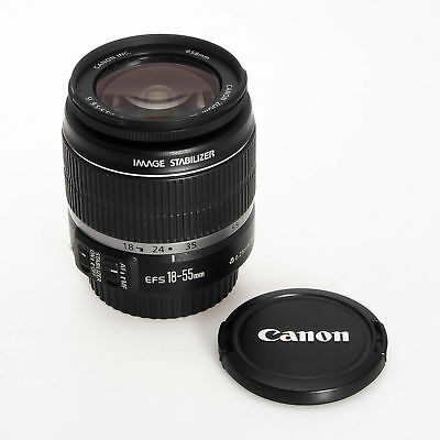Canon EF-S 18-55mm F3.5-5.6 IS Autofocus AF Wide Angle Zoom EOS Lens