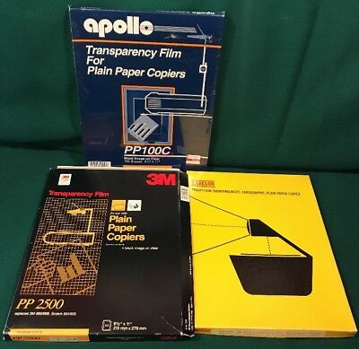 200 pc Apollo PP100C Transparency Film for plain paper copiers sealed and others