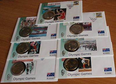 Australien 7 Numisbriefe mit je 5 Dollars Olympia Sydney 2000