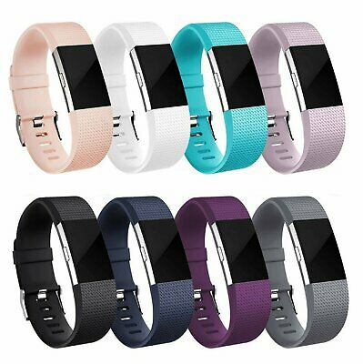 For Fitbit Charge 2 Replacement Silicone Bracelet Watch Band Heart Rate Fitness