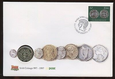 Irish Coinage Irish Stamps Post~1997 Cover & Special Coin