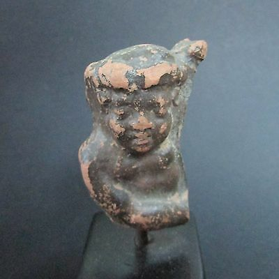 NILE  Ancient Egyptian Terra Cotta Amulet ca 300 BC