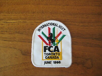 FERRARI Club of America 1998 Toronto Annual Meet Embroidered Patch with sticker