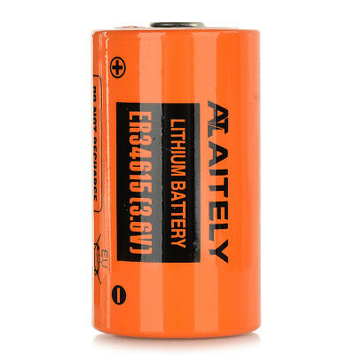 3.6V Non-chargeable ER34615 Lithium Battery - Orange + Black
