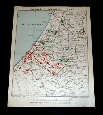 ADVANCE OF EGYPTIAN EXPEDITIONARY FORCE THROUGH PHILISTIA 8/11/1917 Pl 10