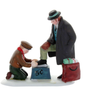 Dept 56 Christmas In City- All Around The Town 55450 Single Figure Shoe Shine