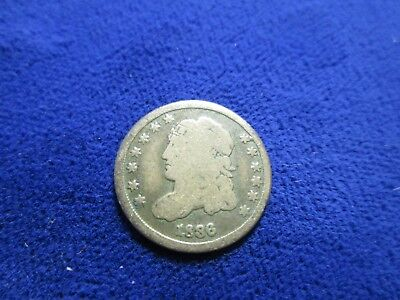 1836 G Capped Bust Half Dime Small 5 C  Original Surfaces