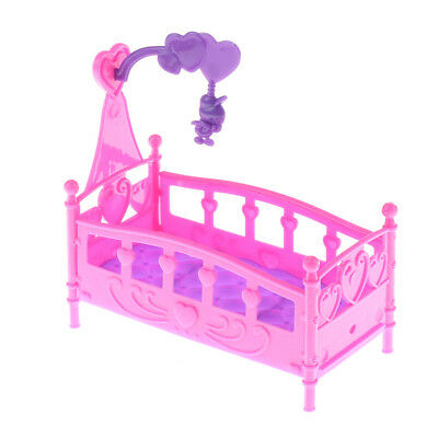 10CM Baby doll play house Plastic bed or barbie doll Furniture Dolls%Accessories
