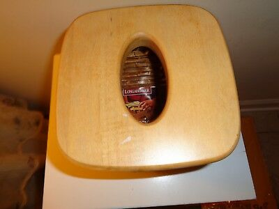 Longaberger Tall Tissue Basket With Wood Lid And Protector