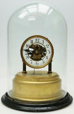 Rare Antique English Eureka Electromagnetic 1000 Day Table Clock Under Dome