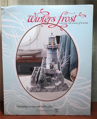 "Dept 56 Winter's Frost ""Winter's Light""  #809459 Lighthouse New in Package"