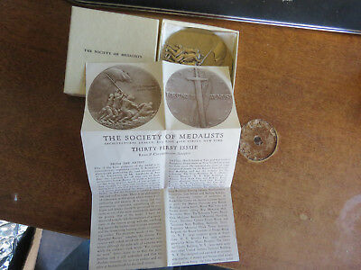 """Medallic Art Co. Society Of Medalists: """"triumph / Conquer"""" #31 R. Chambellan"""