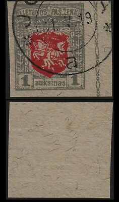 Lithuania 1919 SC 37 used imperf wmk 144 . c8115