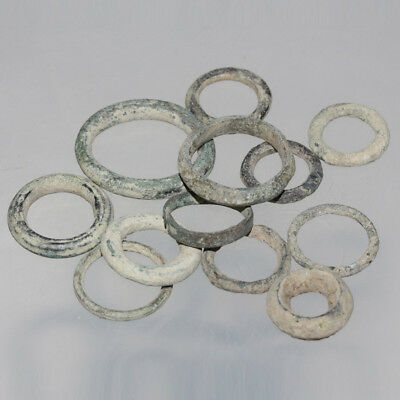Lot Of 12 Intact Celtic Unclean Proto Money Rings