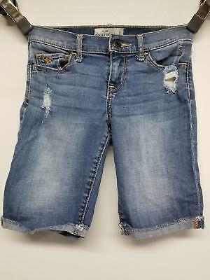 Abercrombie Kids Distressed Bermuda  Shorts For Girls Size 12