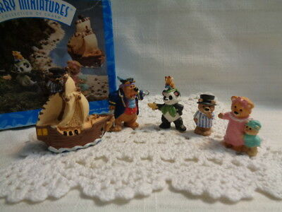 Hallmark Merry Minatures Peter Pan Figure 5 pc Set - 1996