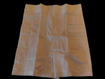 "Vintage Zip Front Instant Shaping Girdle sz 3xL White 36"" waist NWOT NEW M12b"