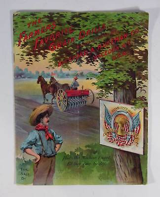 ca1901 BICKFORD HORSE DRAWN FARM MACHINERY CATALOG w/ CHROMOLITHOGRAPH COVERS