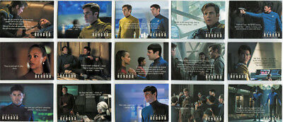 Star Trek Beyond Quotable Complete 15 Card Chase Set Q1 to Q15