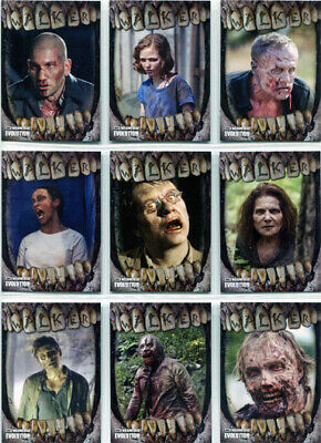 Walking Dead Evolution Walker Complete 10 Card Chase Set