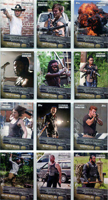 Walking Dead Evolution Weapons Complete 12 Card Chase Set