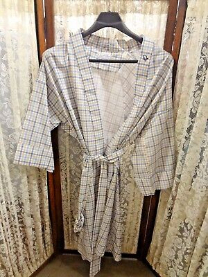 Vintage Men's Dior Robe De Chambre blue tones one size length 42 ""