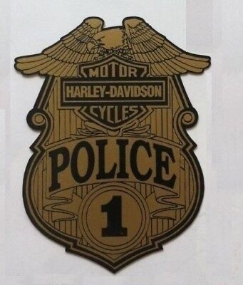 HARLEY DAVIDSON MOTORCYCLES POLICE OFFICER Sticker Decal Motorcycle