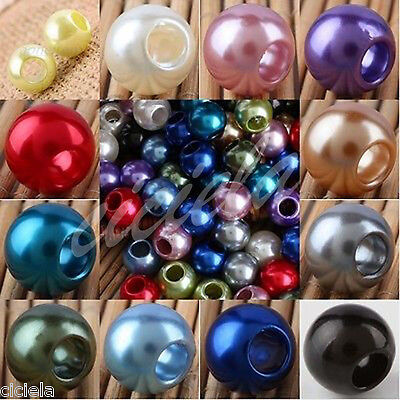 Lot Beads 12/16/18mm Spacer Bead Stoppers Large Hole Jewelry Making