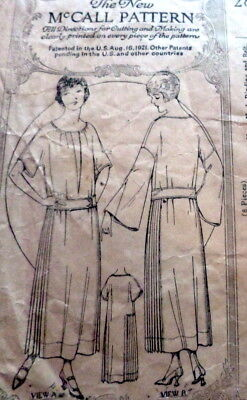 RARE VTG 1920s DRESS McCALL Sewing Pattern BUST 38