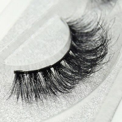 100% Luxury 3D Mink Eyelashes Lasting Lashes Long Layered Wispy Fluffy