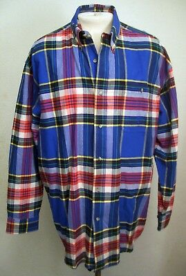 Wrangler Twenty 20X Men's Plaid Button Down Shirt Sz: Xxl ~ Nice Shirt