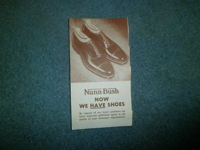 Extreme Advertising Postal Card: Early 1900's Nunn Bush Shoes, Chicago,il