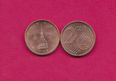 Italy Rep 2 Euro Cents 2002R Unc Observation Tower In Turin,value And Globe