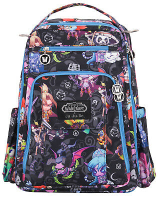 Ju Ju Be World of Warcraft Be Right Back Backpack Baby Diaper Bag NEW