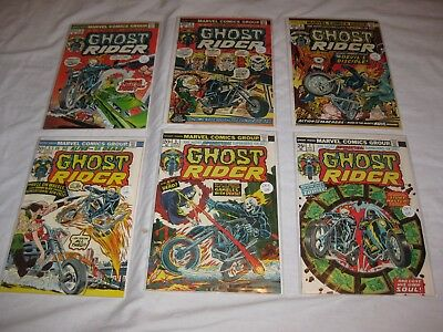 Bronze Age GHOST RIDER run of 6 issues: 3 4 5 6 7 8 average grade NM- 9.2 wow!