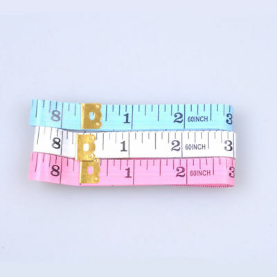 "3 PCS 60"" 150cm Measuring Ruler Sewing Cloth Tailor Body Fitness Tape Soft Flat"