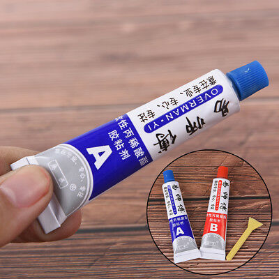 2X Ultrastrong AB Epoxy Resin Strong Adhesive Glue With Stick Plastic Wood ToolD