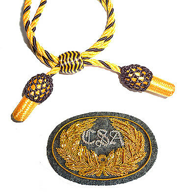 American Civil War Confederate Grey CSA Badge With Gold & Black Slouch Hat Cord